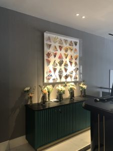Image of origami interior display feature at The Strand Palace Hotel, London