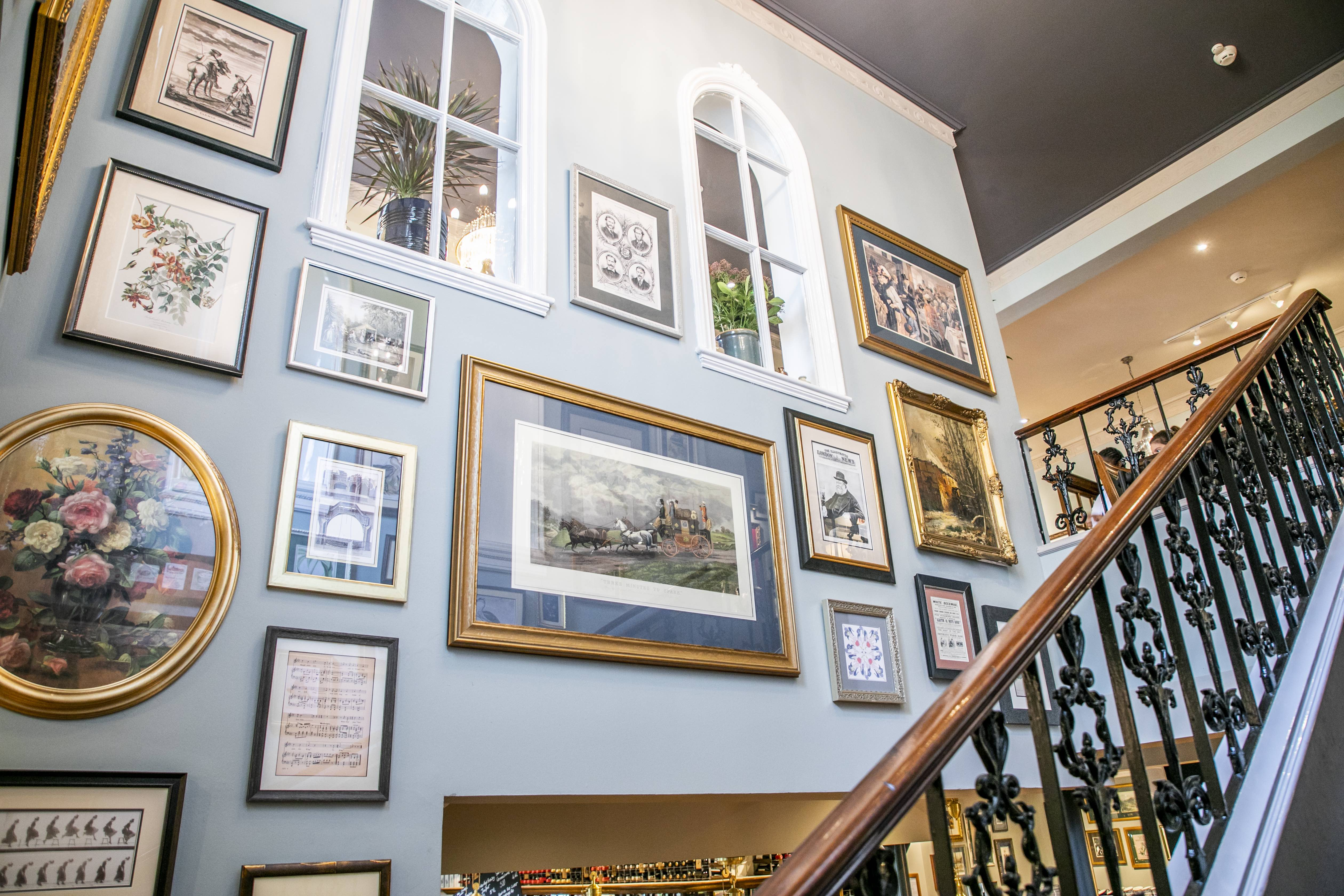 Image of The Telegraph Pub Putney London interior Artwork supplied and installed by Indigo Art Ltd